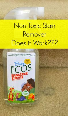 Want an effective non-toxic stain remover? We put green cleaner Baby Ecos Stain and Odor Remover to the test, and show you the results.