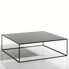 Clean and simple square, metal table 'Romy' by AMPM.