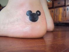 Hidden mickey tattoo
