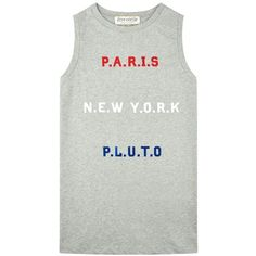 être cécile Paris, New York, Pluto Oversized Tank ($73) ❤ liked on Polyvore featuring tops, oversized tank, crew neck tank top, oversized tank tops, boxy tops and oversized tops
