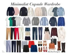 """Minimalist Capsule Wardrobe"" by bluehydrangea ❤ liked on Polyvore featuring Madewell, Boden, Tory Burch, J.Crew, MANGO, Coach, Uniqlo, Gap, Daniel Rainn and French Connection"