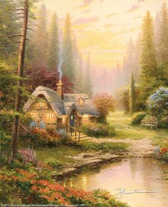 Meadowood Cottage by Thomas Kinkade