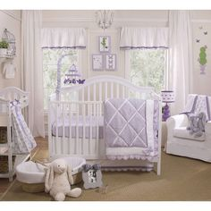 Papillion 4pc Crib Bedding Set by PetitTresor