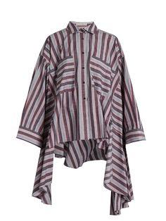 Women's Designer Shirts Fashion Wear, Retro Fashion, Outfits With Striped Shirts, Palmer Harding, Stripes Fashion, Western Outfits, Shirt Shop, Blue Tops, Shirt Outfit