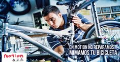 ¡Tenemos el mejor servicio técnico para tu bicicleta! Si necesitas reparar tu bici o hacerle un mantenimiento, nuestro personal altamente calificado se encargará de dejarla como nueva. Trae tu bici hoy a la Av. Reducto 1017 - Miraflores o a la Av. Emilio Cavenecia 173 - Miraflores y estaremos encantados de atenderte. Y recuerda: ¡En #Motion no reparamos... mimamos tu bicicleta!