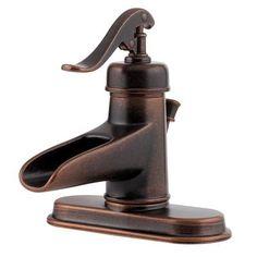Pfister   Robinet robuste pour salle de bains à contrôle unique sans plomb Ashfield®, bronze rustique   Home Depot Canada