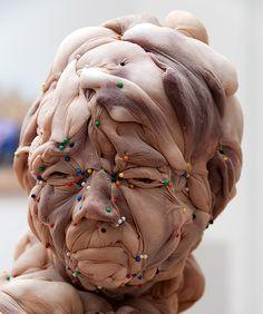 Rosa Verloop, nylon sculpture via Designboom...this is the ultimate panty hose person