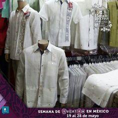 """Te esperamos en nuestro STAND de La Plaza del Recreo en la """"Semana de Yucatán en México en el palacio de los deportes del viernes 19 al domingo 28 de mayo. Tenemos todo lo que buscas, hermosas #Guayaberas con la mejor calidad."""