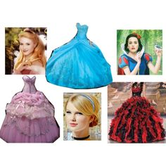 """""""Snow White, Aurora and Cinderella At The Ball"""" by mandilynn726 on Polyvore"""