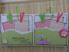 Baby Shower mini album Simple Scrapbooks 6 X 6 by PaperKind