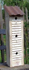 use shutters to make a bird house
