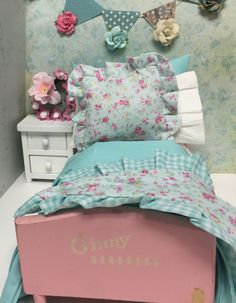 A personal favorite from my Etsy shop https://www.etsy.com/listing/224199035/vintage-ginny-doll-bed-and-full-bedding