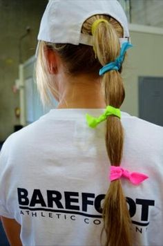 Who says you need just one?! Bright and colorful ponytail ties will keep your hair under control with style! At www.BarefootAC.com.