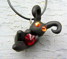 Kingdom Hearts Heartless with Swarovski Heart by Paintit13lack, $30.00
