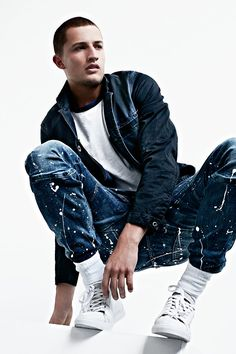 5620 G-Star Elwood 3D Slim Jeans + Bronson Blazer. #SS16