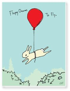 bunny flies (with the help of a red balloon) Red Balloon, Balloons, Year Of The Rabbit, Rabbit Art, Bunny Rabbit, White Rabbits, Bunny Art, Funny Bunnies, Love You