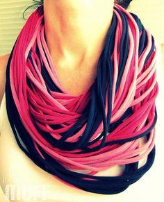 blue-pink spaghetti scarf