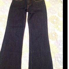 Levi Strauss Dark Rinse Denizen Boot Cut Jeans Real Beautiful, like new, never worn, dark rinse jeans.  Gold contrast threads and decorative back pocket threading.  These are mint condition and so lovely!! Levi Strauss Denizen Jeans Boot Cut