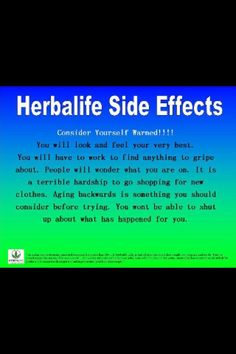 Herbalife Side Effects...