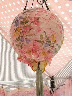 Floral Lanterns w/ flowers and butterflies....SO pretty....love this!