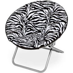 Adjustable Mainstays Faux-Fur Saucer Comfortable Chair, Multiple Colors Colorful,Fun and Comfy Fit Decor Clean Space Relaxed Soft Cool Great for Lounging, Dorms or any Room Kids Young Friends not Expensive Zebra Chair, Modern Couch, Puff, Room Accessories, Zebras, My New Room, Chair Cushions, Kids Furniture, Metal Furniture