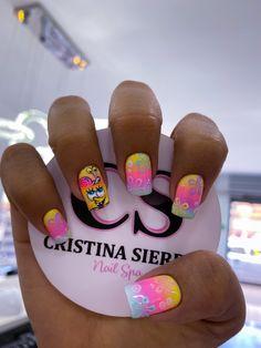 Bright Art, Nail Manicure, Swag Nails, Erika, Nail Art, Chocolate, Pretty Nails, Work Nails, Long Nail Designs
