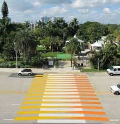 Crosswalks of Additive Color (Miami Beach Convention Center, Miami Beach, United States, 2010) by Carlos Cruz-Diez