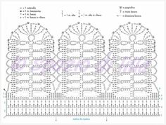 lo spazio di lilla: Schemi di bordi all'uncinetto / Crochet edges charts