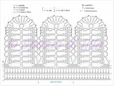 lo spazio di lilla: Schemi di bordi all'uncinetto / Crochet edges charts