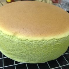 Baking Diary: Greentea Sponge Cheesecake 125g cream cheese, cut into cubes 60g unsalted butter, cut into cubes 5 egg yolks (I used eggs with net weight of 55g) 125g milk 1 teaspoon lemon juice 75g cake flour 35g corn flour 1 tablespoon greentea powder 5
