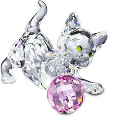 Crystal Glass Ornaments and Collectables Swarovski Crystal Glass Animals and Figures, Caithness Glass Paperweights Swarovski Crystal Figurines, Swarovski Crystals, Swarovski Ornaments, Glass Figurines, Glass Animals, Crystal Collection, Glass Ornaments, Cat Art, Glass Art