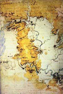 Canal to the Mediterranean Sea project by Leonardo da Vinci