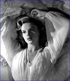 Judy Garland - my idol -she made me fall in love with singing and acting - hand in hand with Mickey Rooney
