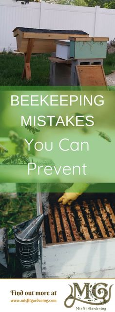 Find out about #beekeeping mistakes made by new #beekeepers. Click to learn more or pin for later