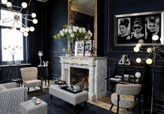 Salon w stylu glamour.