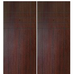 Shop for GlassCraft Fleetwood FG-2, contemporary flush fiberglass double entry doors with modern grooves design. Prehung option components are solid recycled composite material