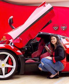French Tennis Ace Marion Bartoli visits Ferrari Factory in Maranello, Italy.