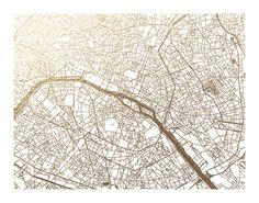 Paris Map Foil-Stamped Wall Art by Alex Elko Design | Minted