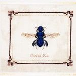 Dimples Designs Blue Orchid Bee