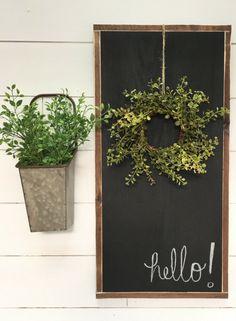Distressed Rustic Framed Chalkboard - Rustic decor - Wall Decor - Kitchen Wall Decor - Farmhouse decor - Rustic sign - Farmhouse sign #ad