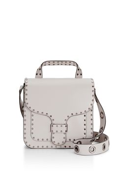 Midnighter Top Handle Bag White Structured Messenger
