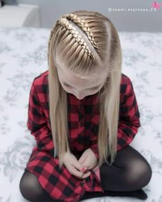 160 Braids Hairstyle Ideas for Little Kids - hairstyles_pinterey Baby Girl Hairstyles, Easy Hairstyles, Hairstyle Ideas, Teenage Hairstyles, Braided Hairstyles For Kids, Woman Hairstyles, Hairstyles 2018, Hairdos, Updos