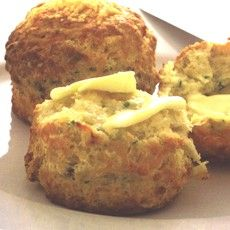 Delia's cheese scones - I love cheese scones, still warm with butter. Mmmm!