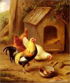 """""""Chickens Feeding"""" by  Edgar Hunt•♥•.¸¸.•´¯`•.♥"""