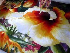 Hibiscus Garden - 86024 #Handmade #Silk #Embroidery #Art completely handmade by master artists in Suzhou, China. Asian decor for Feng Shui, Gifts & Art Collectors. Please visit our website at www.queensilkart.com.  You can also find King Silk Art's shop on Amazon.com or visit our Etsy shop at: https://www.etsy.com/shop/KingSilkArt