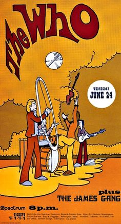 24.6.1970; the who - the james gang; usa, philadelphia, spectrum; (db)
