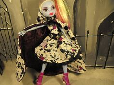 Monster high doll clothes! Paint Splatter Dress and Cloak for your Monster by FreakGearbyHM, $24.95