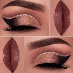 GlitterWarehouse Glitter for Eyeshadow / Eye Shadow Shimmer Makeup Powder Diamond Silver - Cute Makeup Guide Dramatic Eye Makeup, Makeup Eye Looks, Smokey Eye Makeup, Skin Makeup, Eyeshadow Makeup, Makeup Brushes, Editor Makeup, Cheer Makeup, Make Up Designs
