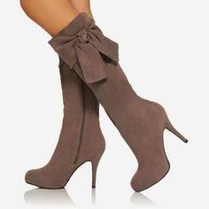 Sweat long grey boots