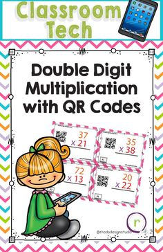 Double Digit Multiplication Math Task Cards QR Self Check 4th Grade Multiplication, Multiplication Facts Practice, Multiplication Strategies, Second Grade Math, 4th Grade Math, Third Grade, Reading Lessons, Math Lessons, Piano Lessons